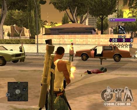 C-HUD Lite v3.0 para GTA San Andreas segunda tela