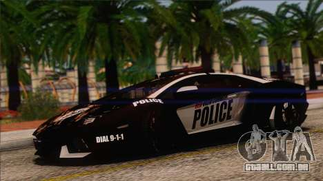 Lamborghini Aventador LP 700-4 Police para vista lateral GTA San Andreas