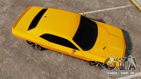 Dodge Challenger SRT8 2012 para GTA 4 vista direita