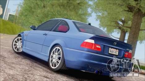 BMW M3 E46 2002 para GTA San Andreas vista direita