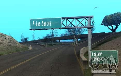 RoSA Project v1.3 Countryside para GTA San Andreas por diante tela
