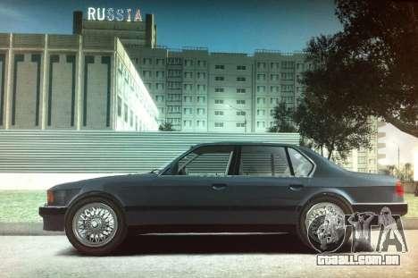 BMW 735iL e32 para GTA 4 esquerda vista