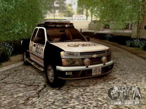 Chevrolet Colorado Sheriff para GTA San Andreas vista traseira