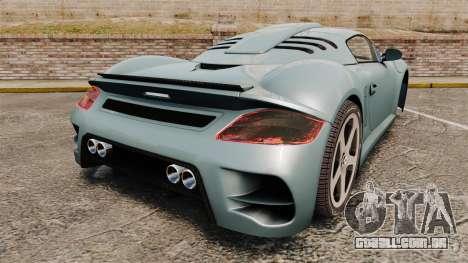 Ruf CTR3 para GTA 4 traseira esquerda vista