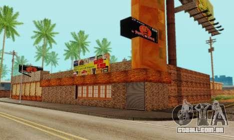 A nova textura pizzarias e comodidades Iludem para GTA San Andreas sétima tela