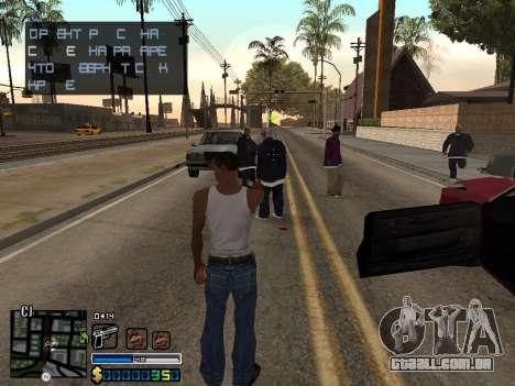 C-HUD By Stafford para GTA San Andreas segunda tela