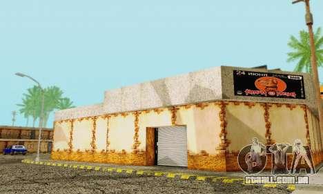 A nova textura pizzarias e comodidades Iludem para GTA San Andreas terceira tela