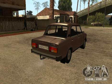 VAZ 2105 versão inicial para GTA San Andreas traseira esquerda vista