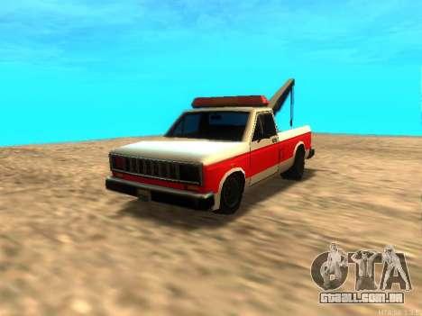 Novo Reboque (Bobcat) para GTA San Andreas esquerda vista