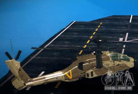 AH-64 Longbow Apache para GTA San Andreas esquerda vista