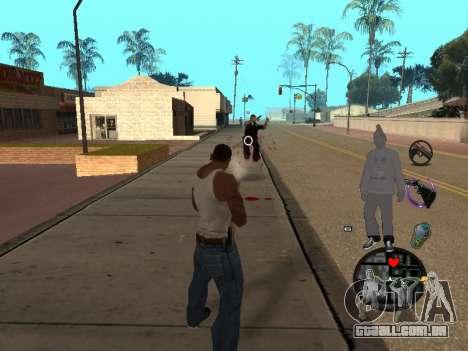 C-HUD Ballas para GTA San Andreas por diante tela