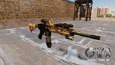 Automatic rifle Colt M4A1 Queda Camos para GTA 4