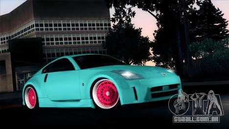 Nissan 350Z Minty Fresh para GTA San Andreas vista interior