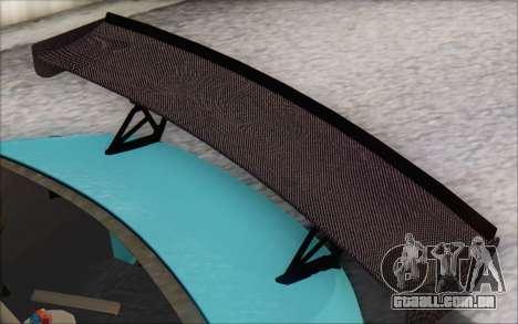 Scion FR-S 2013 Beam para GTA San Andreas vista superior