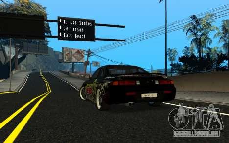 Nissan Silvia S14 Monster Energy KENDA Tire para GTA San Andreas traseira esquerda vista