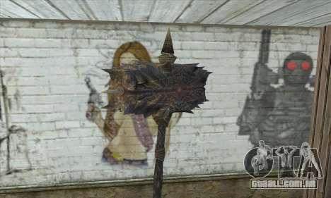 O machado de Skyrim para GTA San Andreas segunda tela