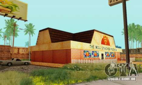 A nova textura pizzarias e comodidades Iludem para GTA San Andreas oitavo tela