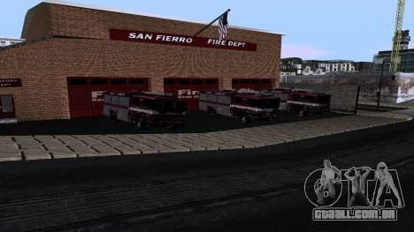 Updated San Fierro Fire Dept para GTA San Andreas