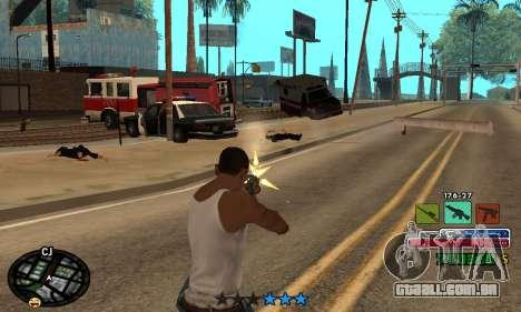 C-HUD Rainbow para GTA San Andreas quinto tela