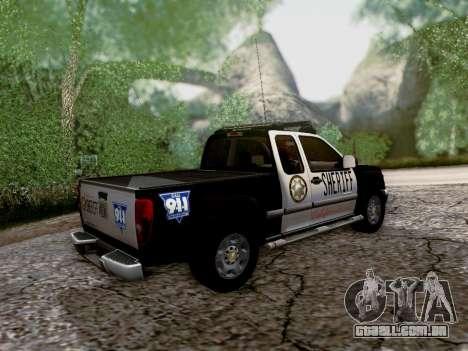 Chevrolet Colorado Sheriff para GTA San Andreas vista superior