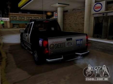 Chevrolet Colorado Sheriff para as rodas de GTA San Andreas
