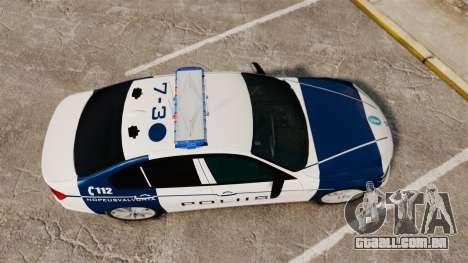 BMW F30 328i Finnish Police [ELS] para GTA 4 vista direita