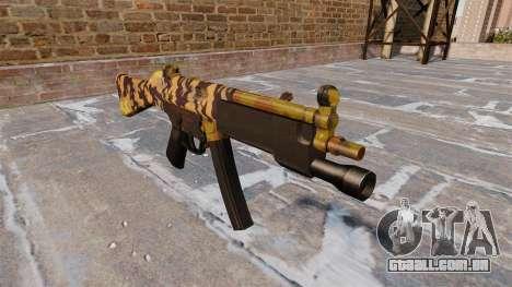A metralhadora HK MP5 Queda Camos para GTA 4