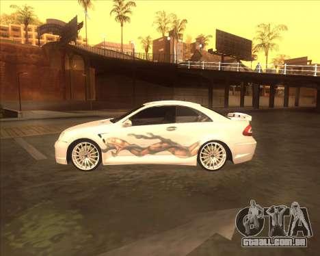Mercedes CLK 500 из NFS Most Wanted para GTA San Andreas traseira esquerda vista