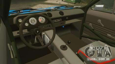 Ford Escort MK1 FnF Edition para GTA 4 vista de volta