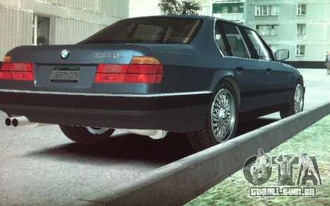 BMW 735iL e32 para GTA 4 traseira esquerda vista