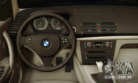 BMW 120i SE Carabinieri para GTA San Andreas vista traseira