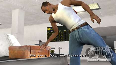 Nova fonte V.3 para GTA San Andreas para GTA San Andreas quinto tela