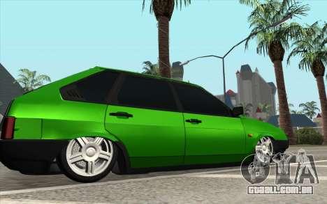 VAZ 2109 Diamante de limão para GTA San Andreas esquerda vista