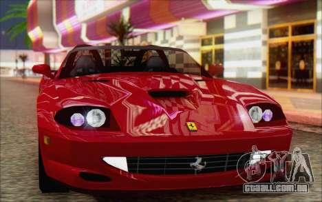 Ferrari 550 Barchetta para GTA San Andreas traseira esquerda vista