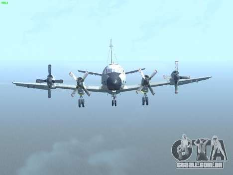 Lockheed P-3 Orion FAJ para GTA San Andreas vista interior