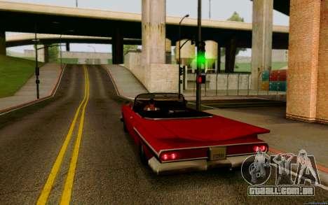 Voodoo Conversível (versão sem luzes) para GTA San Andreas esquerda vista