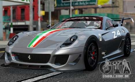 Ferrari 599xx Evoluzione para GTA 4 traseira esquerda vista