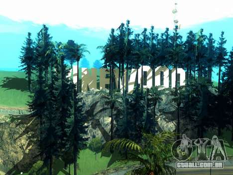 New Vinewood Realistic para GTA San Andreas por diante tela