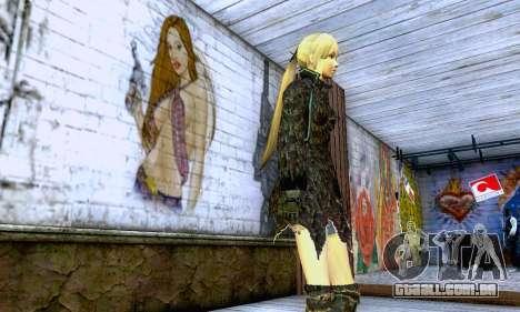 A menina loira com roupas pretas para GTA San Andreas segunda tela