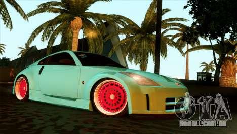 Nissan 350Z Minty Fresh para GTA San Andreas vista traseira