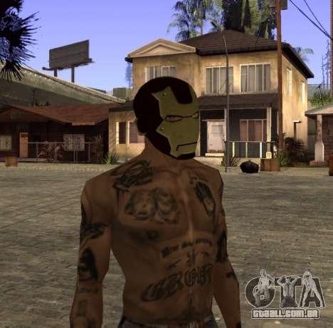Máscara Homem de Ferro, por CJ para GTA San Andreas