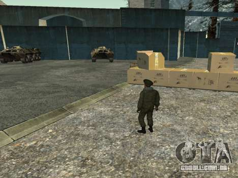 O tenente-Coronel das tropas Internas para GTA San Andreas por diante tela