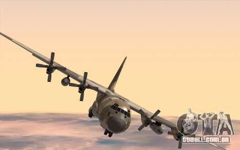 C-130H Hercules para GTA San Andreas traseira esquerda vista