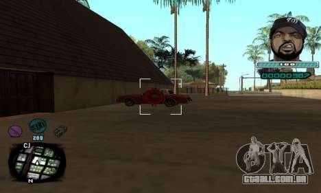C-HUD Ice Cube para GTA San Andreas terceira tela