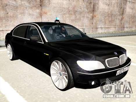 BMW 760Li para GTA San Andreas vista inferior