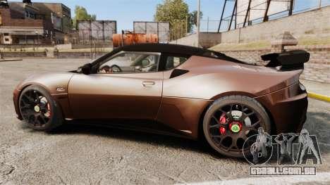 Lotus Evora GTE Mansory para GTA 4 esquerda vista