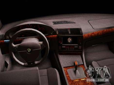 BMW 730d E38 1999 para GTA San Andreas vista traseira
