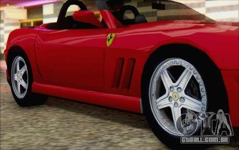 Ferrari 550 Barchetta para GTA San Andreas vista direita