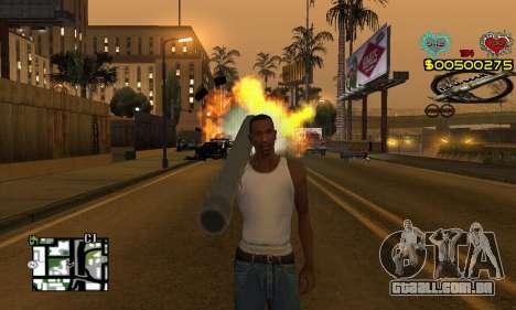 C-HUD New Liberia para GTA San Andreas segunda tela