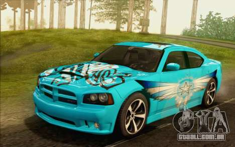 Dodge Charger SRT8 2006 para GTA San Andreas vista inferior